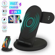 3 In 1 Charging Station Charger Stand Dock Pad For Samsung Watch Iphone Air Pods