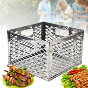 Stainless Steel Bbq Grilling Charcoal Basket Outdoor Grilling Accessory Square