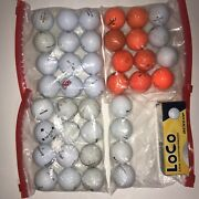 Lot Of Used Golf Balls Assorted Brands And Conditions 40 In Bags 3 Dunlop Loco