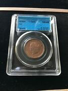 1876h Cccs Graded Canadian Large One Cent Ms-65