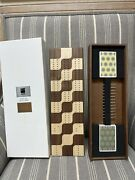 Wooden Cribbage Board Two Lane Track With Pegs And Cards Stored Inside Umbra New