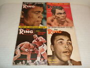 1963 The Ring Boxing Magazine Lot 4 Issues Cassius Clay 6/63 7/63 8/63 9/63