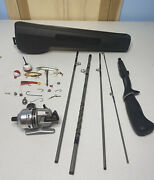 Vintage Daiwa Minicast System Mc-2 Reel 5' Rod Case Complete With Lures