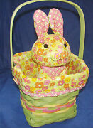 Longaberger Easter Basket Posy Patch Fabric Protector And Longabunny 2011 New