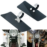Smoke Wind Fork Deflectors Clamps Mounting Kit For Honda Shadow Ace 750 Vt750c
