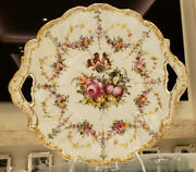 C.t. Carl Tielsch Altwasser Silesia Dresden Germany Antique Plate With Handle