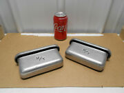 Real 1960s Micky Thompson 6 3/4 Aluminum Valve Cover Breathers 90 Side Mount
