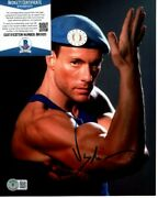 Jean Claude Van Damme Signed 8x10 Street Fighter Colonel Guile Photo Beckett Bas