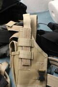 Tan Blackhawk Drop Leg With A Universal Soft Fit Holster New Left Handed.