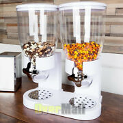 New Dry Food Cereal Dispenser Airtight Twin Container Commercial Hotel Breakfast