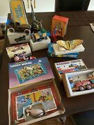 Vintage Lithograph Tin Wind Up Toy Collection Lot Of 8 - In Original Packages