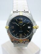 Breitling Windrider Wings Steel Gold Automatic Menand039s Watch 1 1/2in - Refb10050