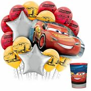 Cars 3 Balloon Kit Party Supplies Includes Balloons And Favor Cup 16 Piece