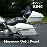 Morocco Gold Pearl King Tour Pack Pak Fit 97-21 Harley Street Road Electra Ultra