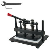 Leather Cutting Machine Manual Die Cutter Leather Embosser Hand Press Mold New