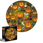 Halloween Jigsaw Pumpkin Art Puzzles Kid Education Toy Family Game Adult Gift