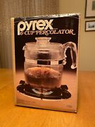 Vintage Pyrex Brand 6-cup Percolator Coffee Maker 7756 Sealed Nos In-box
