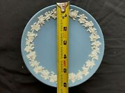 Wedgewood China Candy Dish, Cake Dish 6 Inch Good Condition Light Blue Embossed