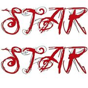 Mastercraft Boat Lettering Decals 2817002   X-star Red Gray Set Of 2