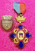 1924 Olympic Paris French Order Medal +participant Badge Pin