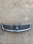 ✅09 10 11 12 Mitsubishi Galant Front Bumper Grille Grill Silver And Chrome Oem