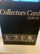 Collectors Card Album 40 Page 3 Ring Binder With Trading Cards