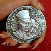 Colonial French Legion In Africa Art Deco Military Silver Medal By Tschudin