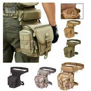 Menand039s Outdoor Tactical Leg Bag Military Thigh Belt Pouch Hiking Waist Fanny Pack