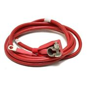 Boat Battery Cable   Red 1/0 Awg 10 Ft 10 Inch W/ Terminal End