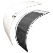 Larson Boat Sliding Door | Curved W/ Screen 28 X 38 Inch White 2pc