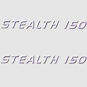 Misty Harbor Stealth 150 Violet/blk/wht 13 1/4 X 1 1/4 Inch Boat Decals Pair