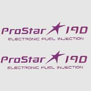 Mastercraft 759918 Prostar 190 Electronic Fuel Injection Vinyl Boat Decal Pair