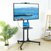 Movable Floor Tv Carts Fiexible Tv Stand Lcd Led Mount Bracket Fit For 26-70inch