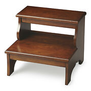 Sherwood Forest Wooden Step Stool - Bed Steps - Chestnut Burl - Free Shipping