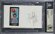 Hawks Pete Maravich Authentic Signed 3x5 Index Card Autographed Bas Slabbed