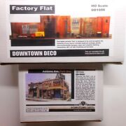 Downtown Deco Ho Scale 2 Building Structure Kits Factory Flat + Addams Ave One