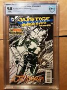 Justice League Of America 3 Cbcs 9.8nm/mt 1 100 Bandw Finch Variant Cover 2013