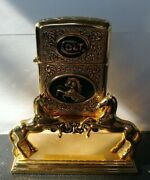 Spirit Of The Old West Collector Lighter And Stand Franklin Mint Colt Firearms