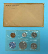 1959 Us Silver Proof Coin Set In Mint Envelope Five United States Coins
