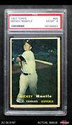 1957 Topps 95 Mickey Mantle Yankees Psa 6 - Ex/mt