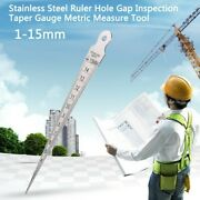 Hand Tools Wedge Feeler Inspection Metric Measuring Ruler Tool Durable New