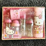 Hello Kitty Baby Bottle 3 Replacement Nipple Milk Case Mug Towel Ship From Japan