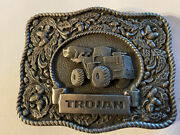 Yale And Towne Trojan 5500-ol Articulated Wheel Loader Pewter Belt Buckle Mining