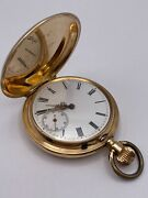 Vintage 1900and039s Swiss Solid 14k Gold Pocket Watch