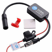 Auto Stereo Fm / Am Radio Signal Antenna Aerial Signal Amp Amplifier Booster