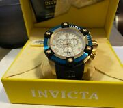 Blue And Gold Mens Luxury Watch With Case
