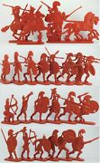Ancient Greek Soldiers Plastic Set 23 Flat Figures Toy Soldiers