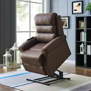 Copper Grove Gerards Chocolate Brown Power Recline And Lift Brown Standard