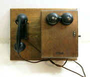 Antique Railraod Western Electric Telephone With Ringer Box And 5 Bar Magneto