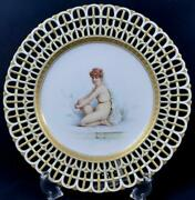 Antique Minton Boullemier Autographed Reticulated Plate Collamore Openwork 1884